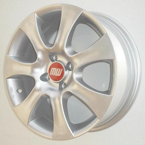 A-Rad 7X16 4/100 ET38 silber-metallic  -  zulässige Reifengrösse 195/40R16 ( nur HA und nur in Verbindung mit A-Rad 6X15 VA