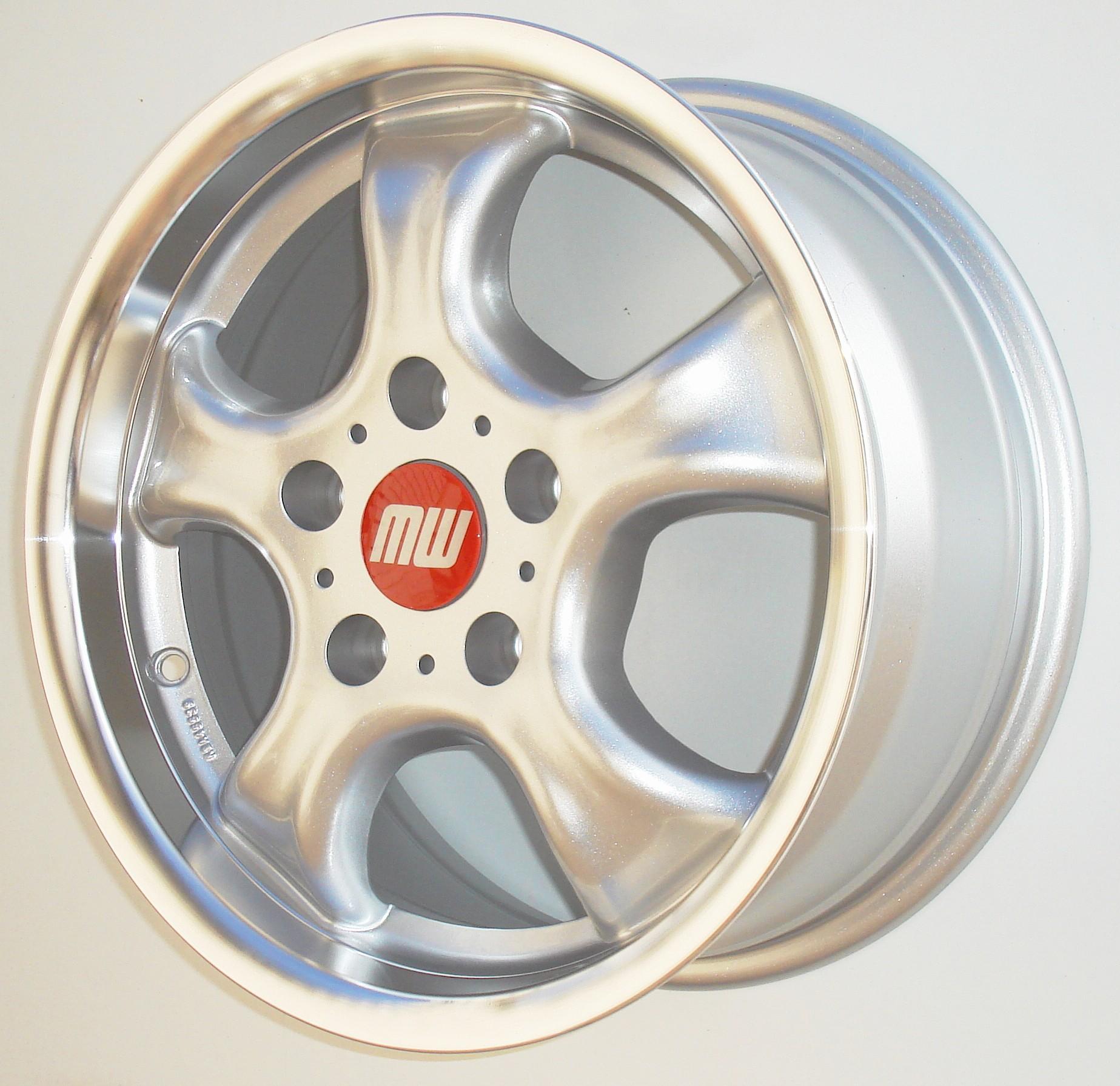 CUP-Rad 6X14 4/100 ET37 - silber metallic/hornkopiert