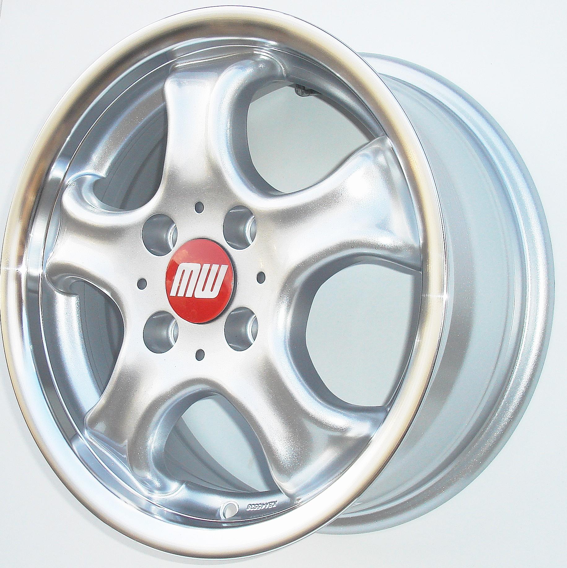 CUP-Rad 5,5X13 4/100 ET38 silber metallic/hornkopiert - zulässige Reifengrössen:  155/65R13, 165/60R13,  175/50R13 mit ABE/Teilegutachten