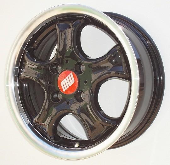 CUP-Rad 5,5X13 4/100 ET38 schwarz/hornkopiert -  zulässige Reifengrössen: 1456/80R13, 155/65R13, 165/70R13, 175/65R13, 185/50R13 mit ABE/Teilegutachten