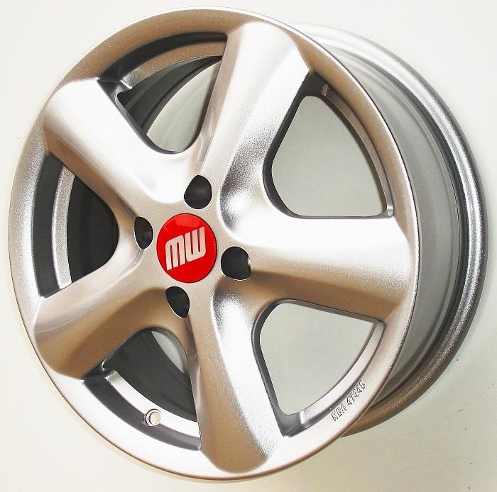 SAMOA-Rad 6X15 4/100 ET40 silber metallic  -  zulässige Reifengrössen: 185/55R15  mit ABE