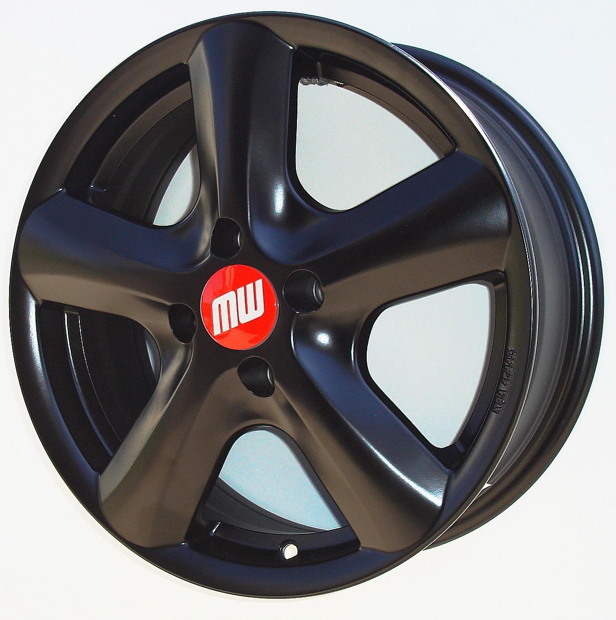 SAMOA-Rad 6X15 4/100 ET40 schwarz matt  -  zulässige Reifengrössen: 175/60R15, 185/55R15, 195/50R15, 195/55R15 mit ABE