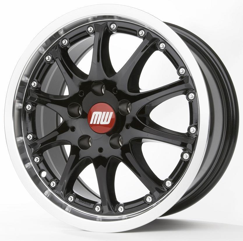 TS-Rad 7,5X16 5/114,3 ET40 schwarz/hornkopiert  -  zulässige Reifengrössen: 215/65R16, 225/60R16, 235/670R16, 245/60R16 mit Teilegutachten