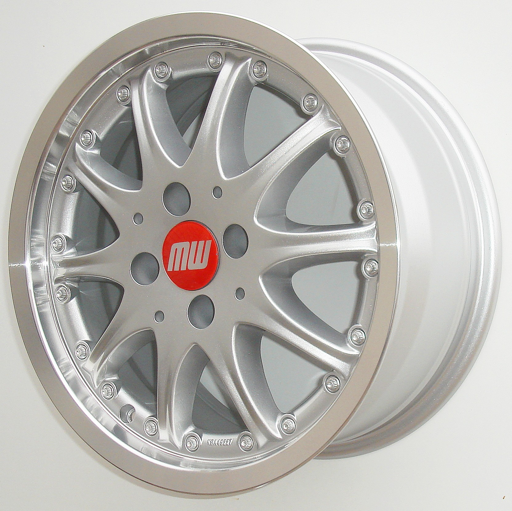 TS-Rad 7X15 4/100 ET38 silber metallic/hornkopiert  -  zulässige Reifengrössen: 185/55R15, 195/50R15, 195/55R15, 215/45R15 mit ABE